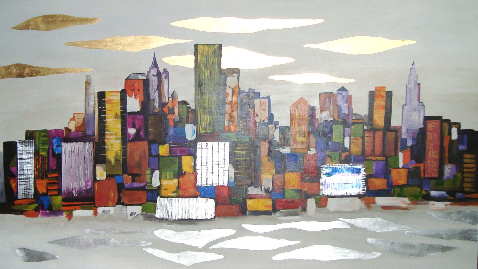Reproducción de cuadro Nueva York abstracto | Paula Mínguez